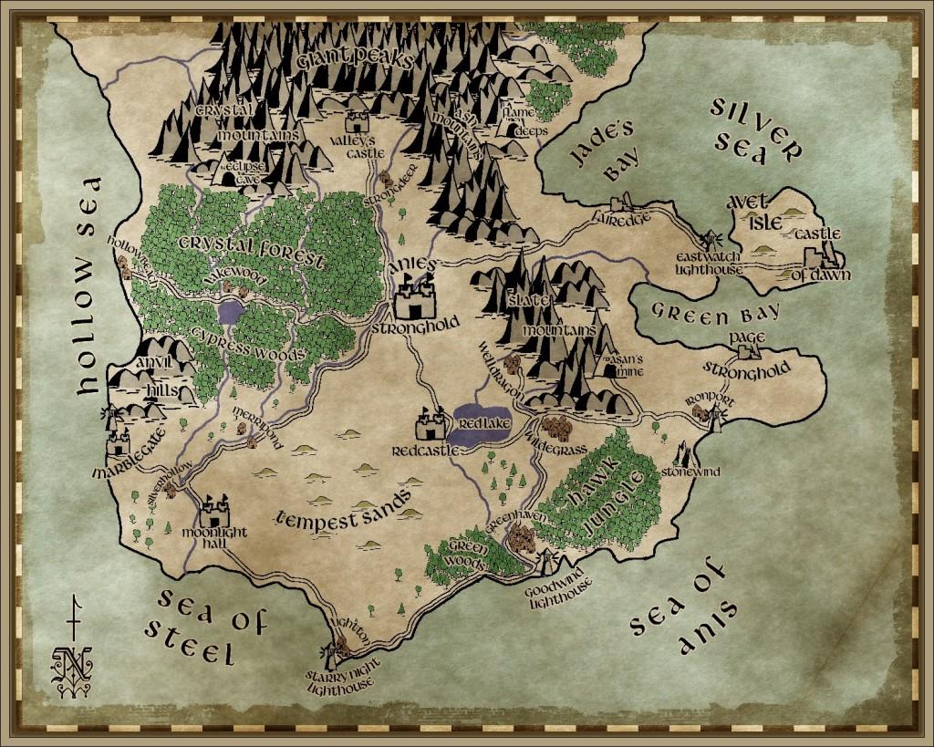 The map of Brightland Kingdom. It wasn't such a useless procrastination.
